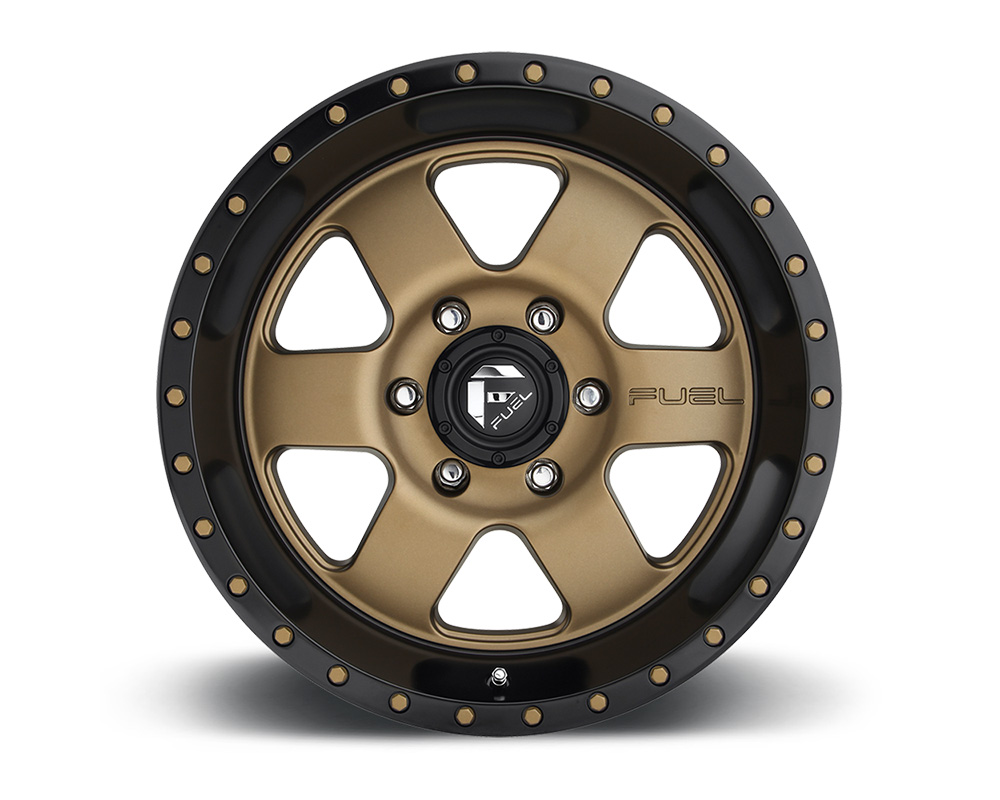 Fuel D617 Podium Bronze w/ Black Lip 1-Piece Cast Wheel 18x9 6x139.7 -12mm - D61718908345
