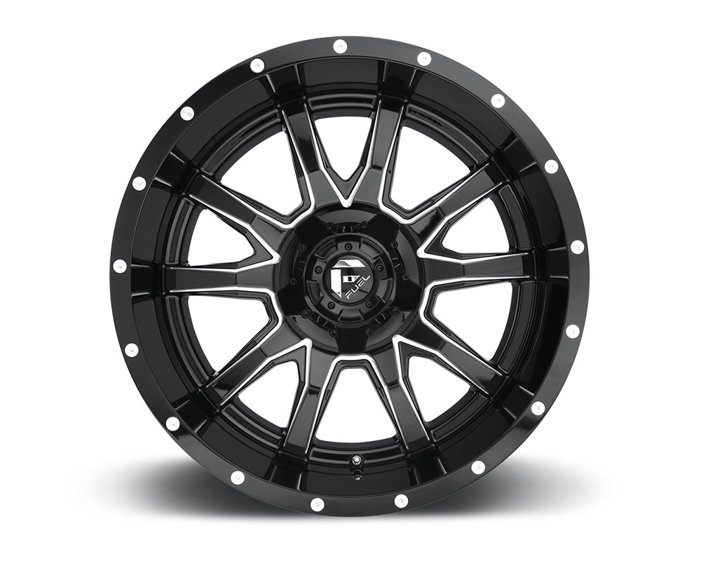 Fuel D627 Vandal Gloss Black & Milled 1-Piece Cast Wheel 20x12 5x114.3|5x127 -43mm - D62720202647