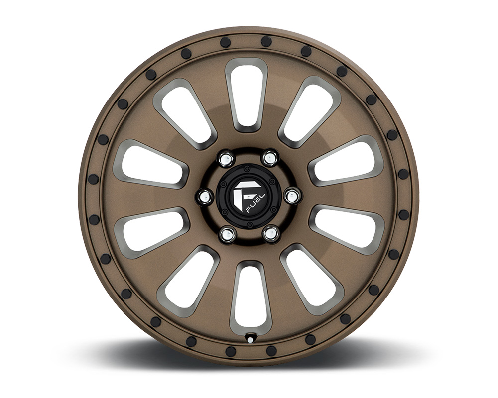 Fuel D678 Tactic Bronze w/ Black Bolts 1-Piece Cast Wheel 17x9 6x139.7 -12mm - D67817908445