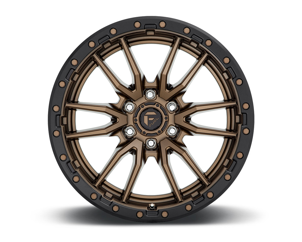 Fuel D681 Rebel Bronze w/ Black Lip 1-Piece Cast Wheel 18x9 6x139.7 -12mm - D68118908445