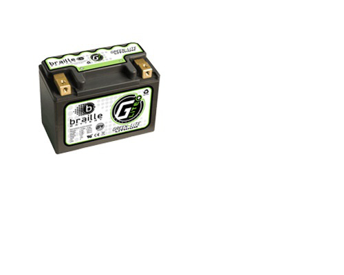 Image of Braille Green Lite Lithium Ion Battery Left Side Positive 192 AMP 4.45 x 2.36 x 3.39 Inch