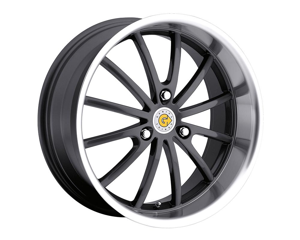 Genius Darwin Wheel 15x6.5 3x112 22mm Gunmetal w/Mirror Cut Lip - 1565GED223112G57