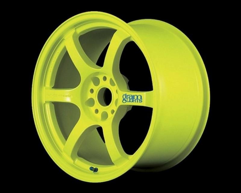 GramLights Fluorescent Yellow 57D Wheel 18x9.5 5-114.3 12mm - WGDX12EY