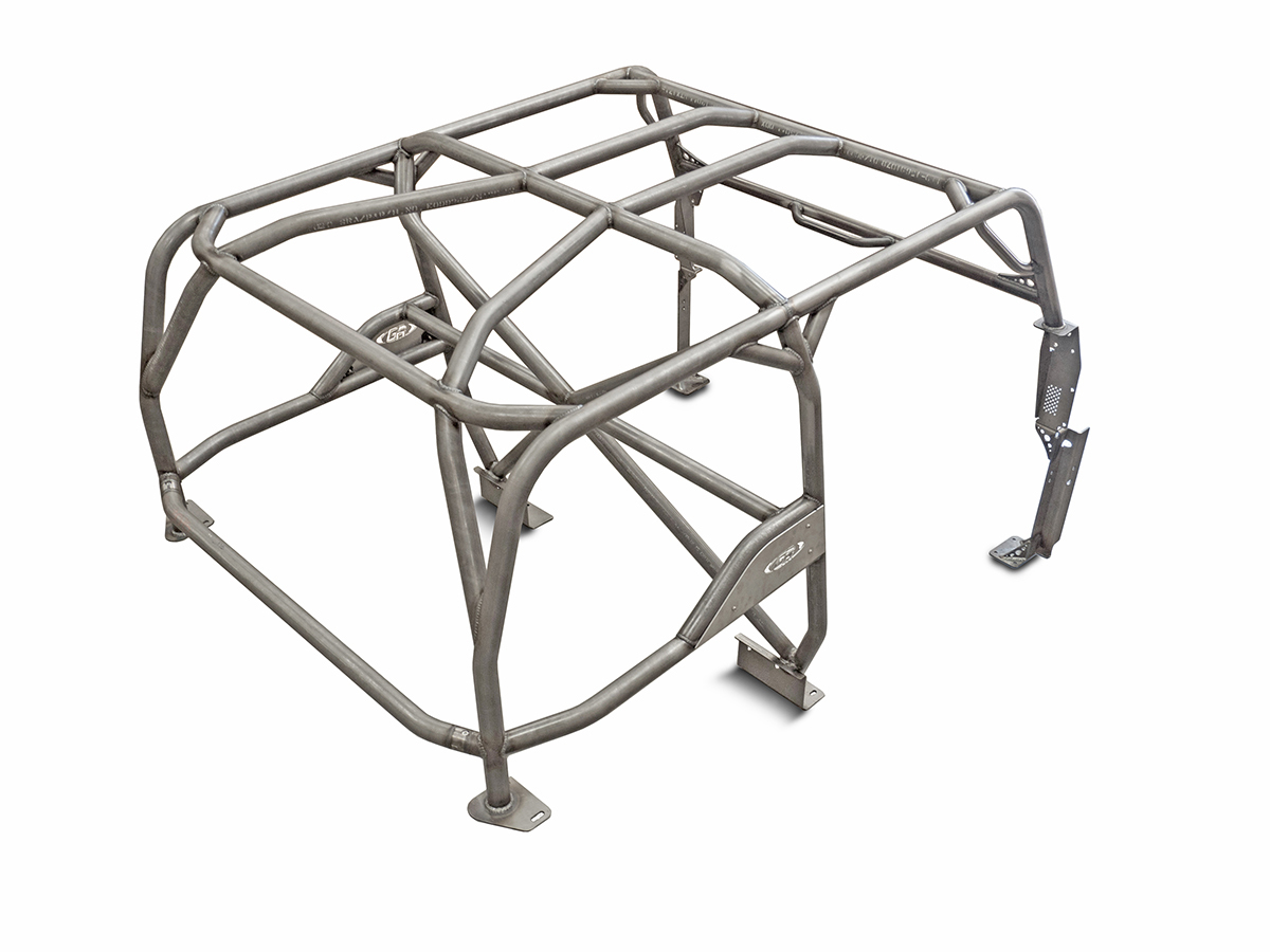 Jeep Roll Cage Kit Full Laser Notched 87-95 Wrangler YJ Steel Bare GenRight - GRC-4001
