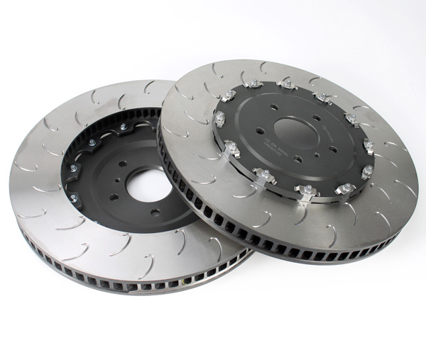 Image of AP Racing Front J-Hook Slotted Rotors Nissan GT-R R35 08-11