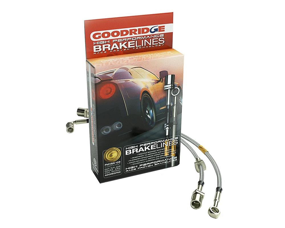 Goodridge 95-96 GMC Yukon 2WD 2in Extended Line SS Brake Line Kit - 2-14113