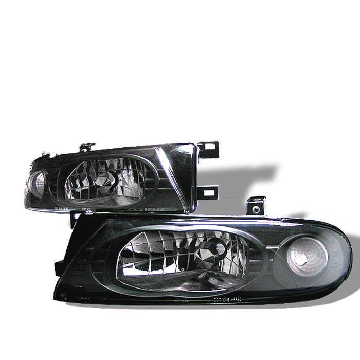 Spyder Black Crystal HeadLights Nissan Altima 93-97