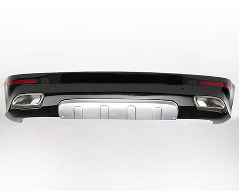 Hofele Rear Bumper Apron w/Integrated Tailpipes Volkswagen Touareg w/ Hitch 02-07 - HF 6653-T