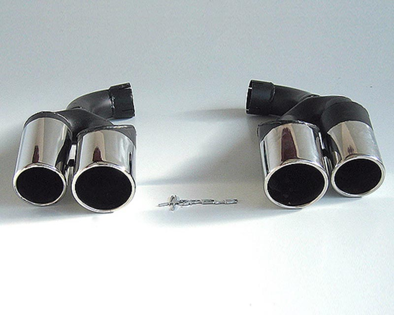 Hofele Tailpipes Kit for Light-Facelift Rear Apron Porsche Cayenne 02-07 - HF 8358-VF