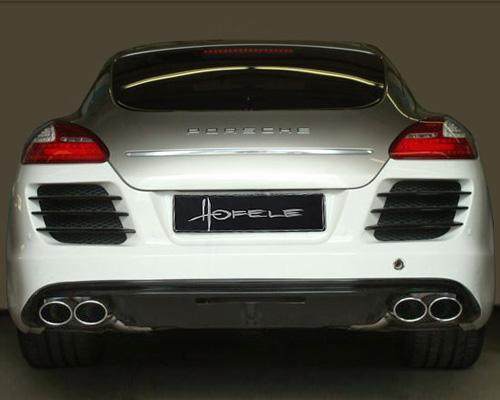 Hofele Duplex Sports Muffler System Oval Tips Porsche 970 Panamera w/Rivage Bumper 10-17 - HF 9356