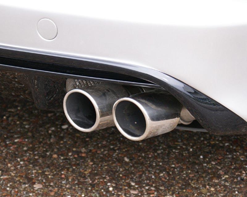 Hofele Sport Round Tail Pipe Set for OEM Muffler Porsche 970 Panamera 10-17 - HF 9359