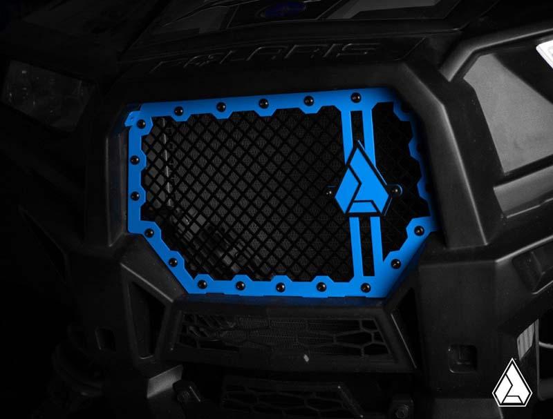 Assault Industries Hellfire V2 Front Grill Blue Polaris RZR XP 13-17 - 201005FG0402