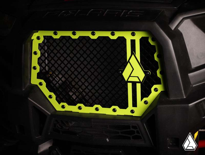 Assault Industries Hellfire V2 Front Grill Lime Squeeze Polaris RZR XP 13-17 - 201005FG0410