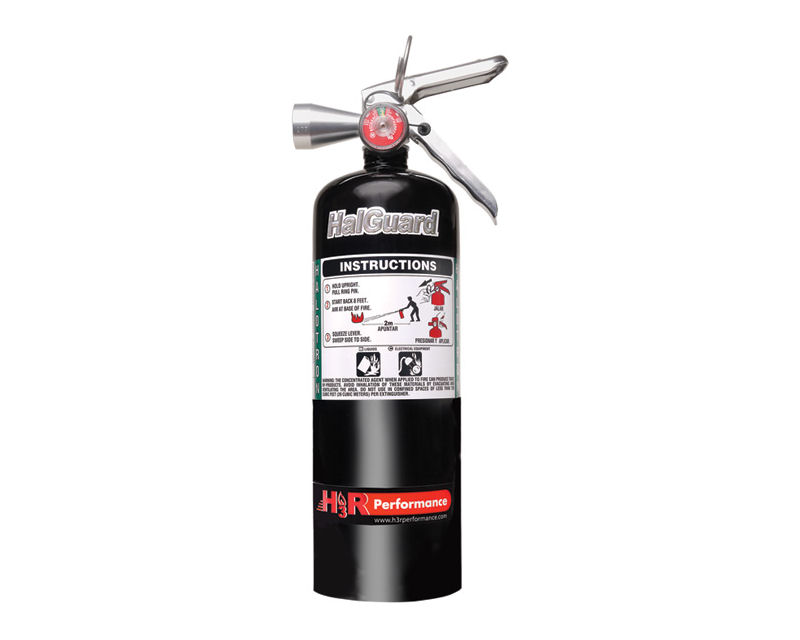 H3R Performance 5lb Black HalGuard Clean Agent Fire Extinguisher - HG500B
