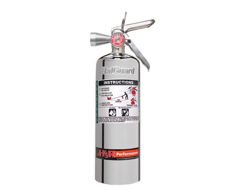 H3R Performance 5lb Chrome HalGuard Clean Agent Fire Extinguisher - HG500C