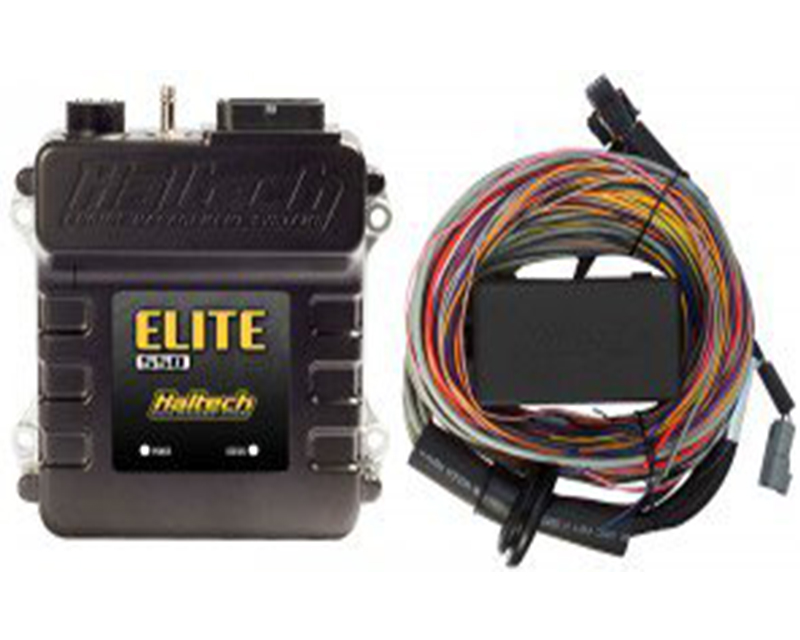 Haltech Elite 550 Stand Alone ECU with 8ft. Basic Universal Wire-In Harness Kit - HT-150404