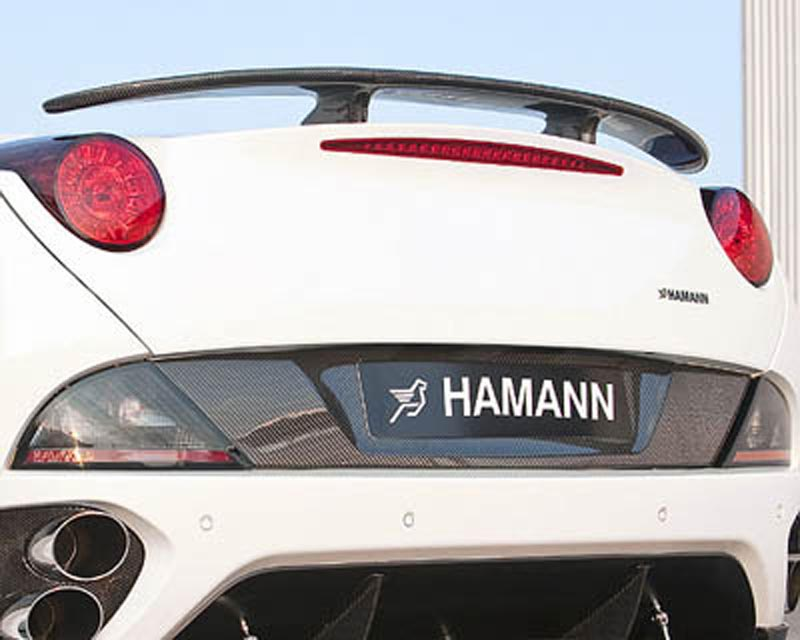 Hamann Rear End License Plate Cowling Carbon Fiber Ferrari California 08-12