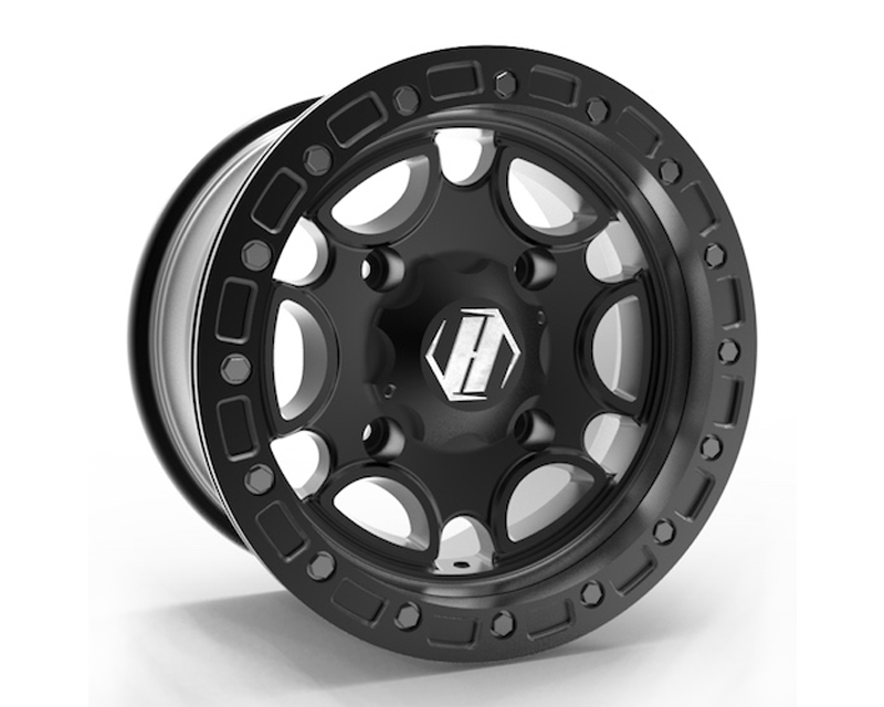 HiPer Technology 1410-KFSBK-55-SBL-BK Black Falcon Beadlock UTV Wheel 14x10 4x136 | 4x137  5+5 Offset (151713031) photo