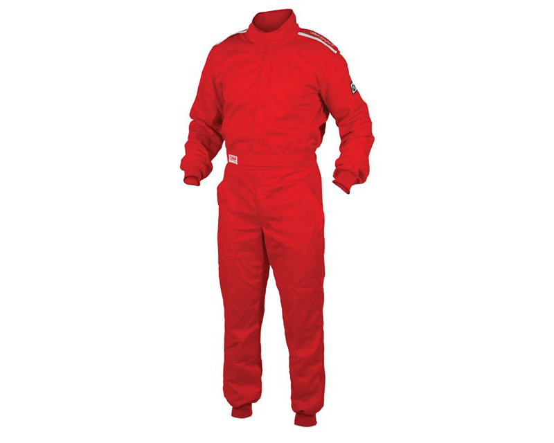 OMP OS 10 Cuff Cut Fire Retardant Racing Suit Red | S - IA01904061S