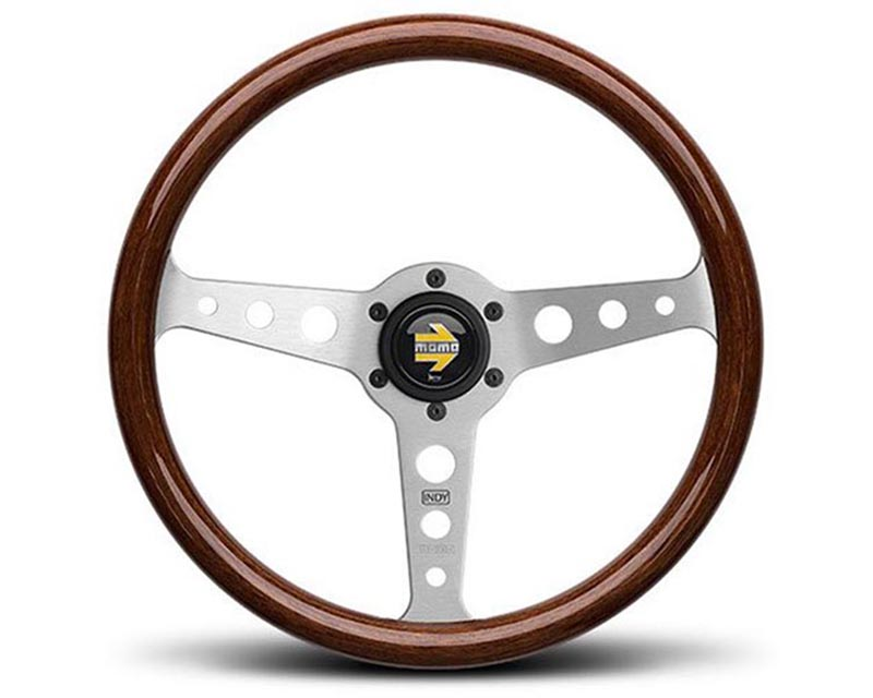 MOMO Indy 350 mm Mahogany Steering Wheel - IND35ZB0P