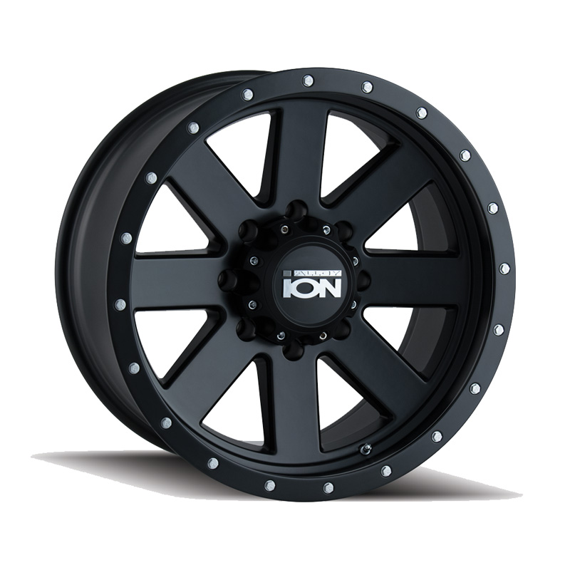 ION 134 Matte Black | Black Beadlock 18x10 5x150 -19mm 110mm Wheel - 134-8150MB