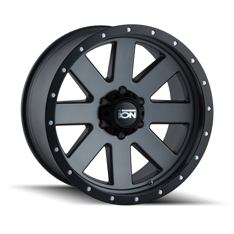ION 134 Matte Gunmetal | Black Beadlock 18x9 6x135 18mm 87mm Wheel - 134-8936MG18