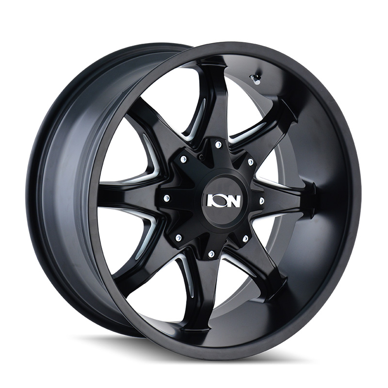 ION 181 Satin Black | Milled Spokes 20x12 6x135 | 6x139.7 -44mm 108mm Wheel - 181-2237M