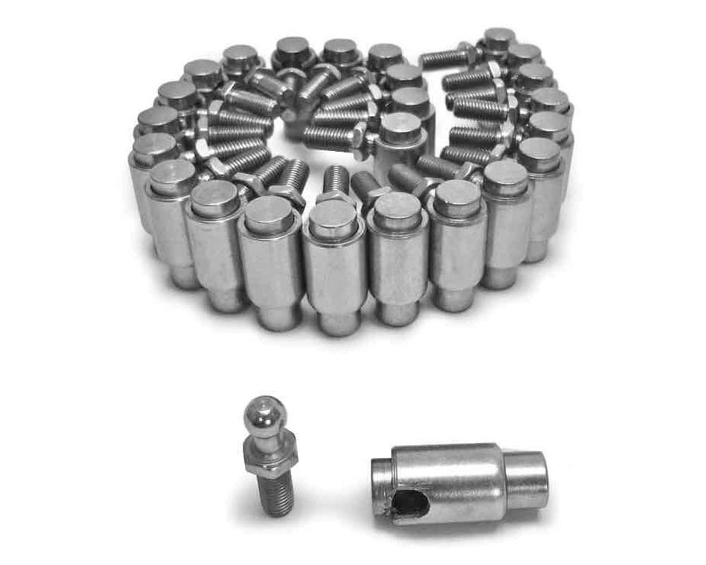 Steinjager Quick Disconnect Plated Steel Cable Ball Joints 1/4-28 25 Pack - J0012067
