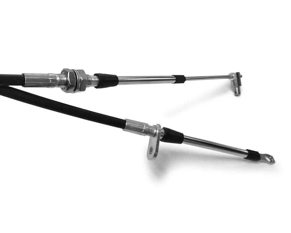 Steinjager Shifter Cables, Push-Pull 10-32 132 Inches Long Eyelet Style 2 inch travel - J0030873