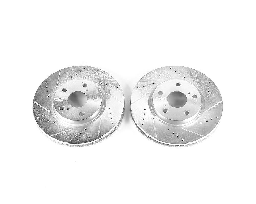 Power Stop Evolution Drilled & Slotted Rotors - Pair Front Lexus GS300 2006 - JBR1147XPR