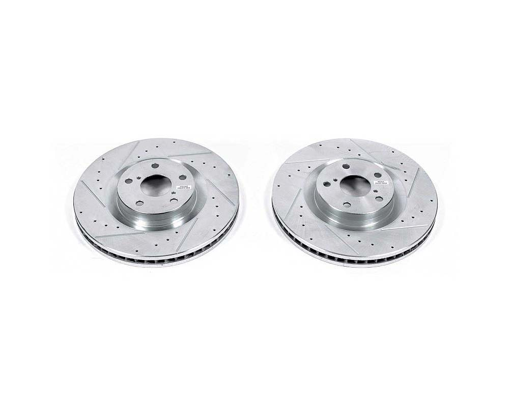 Power Stop Evolution Drilled & Slotted Rotors - Pair Front Lexus GS350 2009-2010 - JBR1392XPR