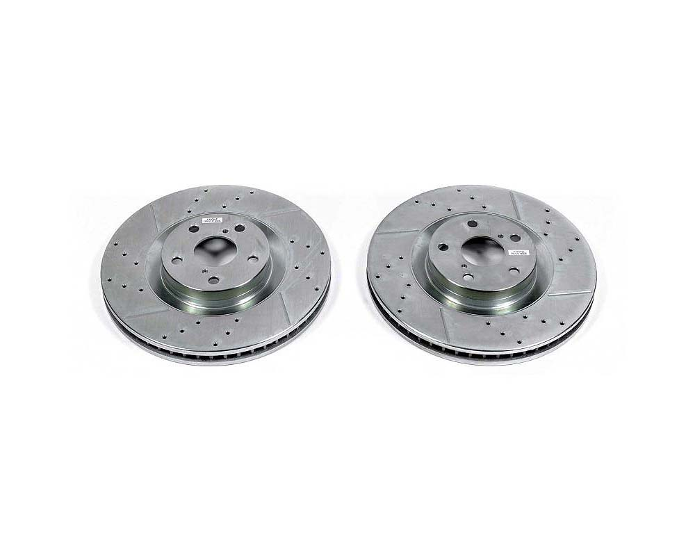 Power Stop Evolution Drilled & Slotted Rotors - Pair Front Lexus GS200t 2016-2017 - JBR1568XPR