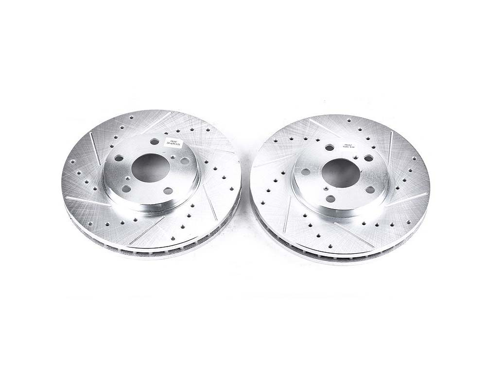 Power Stop Evolution Drilled & Slotted Rotors - Pair Front Lexus GS300 1993-2005 - JBR716XPR