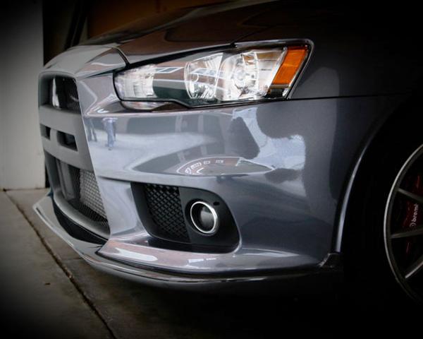 Image of JDP Engineering Carbon DL Front Lip Spoiler with Fins Mitsubishi Evolution X 08-14