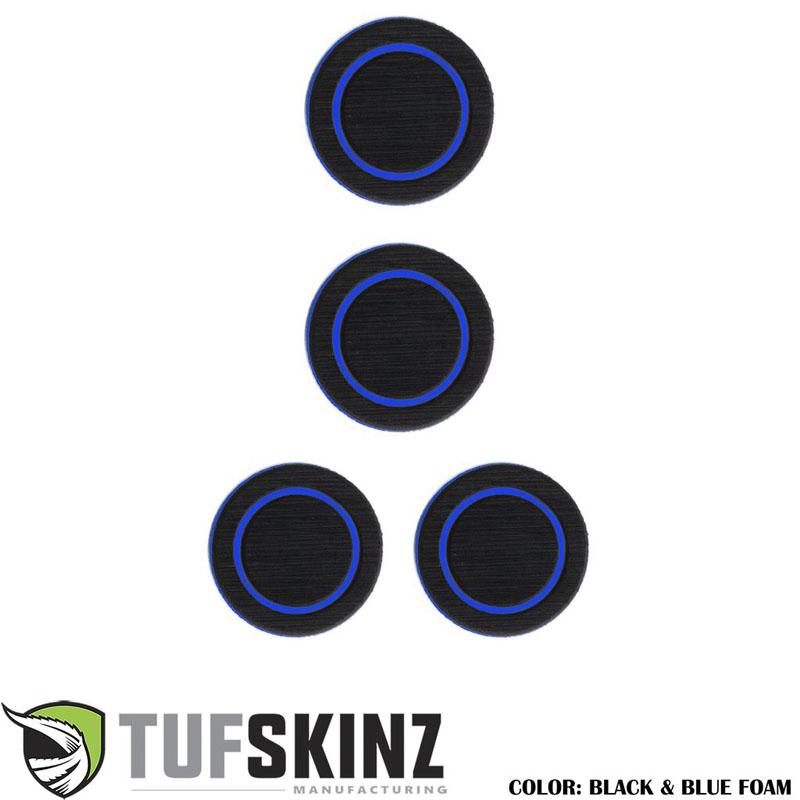 Tufskinz JEP005-FBL-X Interior Cup Holder Inserts Fits 07-18 Wrangler JK 4 Piece Kit Black/Bue