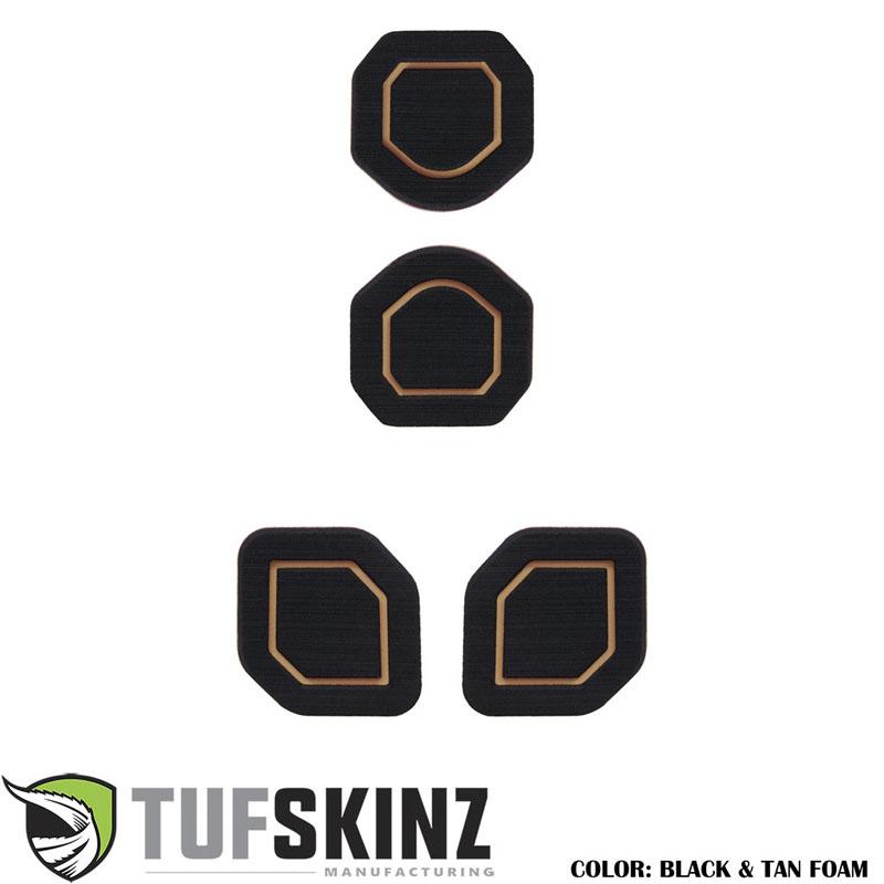 Tufskinz JEP006-FTN-X Interior Cup Holder Inserts Fits 19-Up Wrangler JL 4 Piece Kit Black/Tan