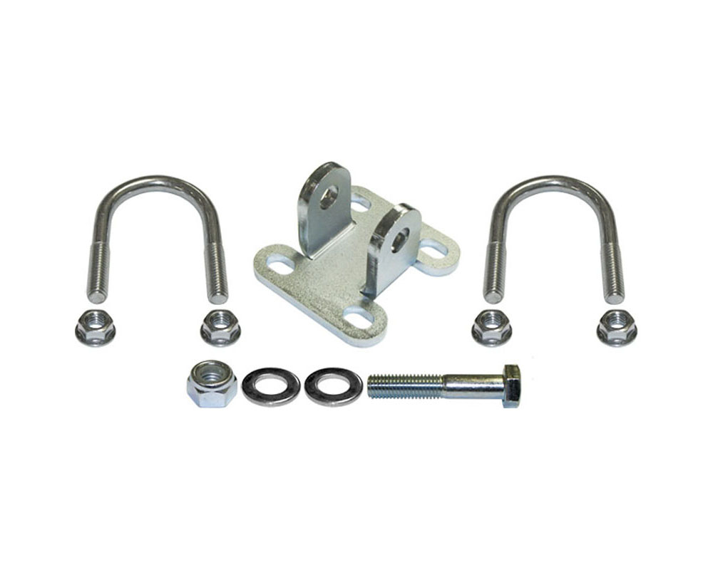 For 1 5//8 Tube Tie Rod Currie Enterprises JK-9703SB CURRECTLYNC Steering Stabilizer Shock Bracket Kit