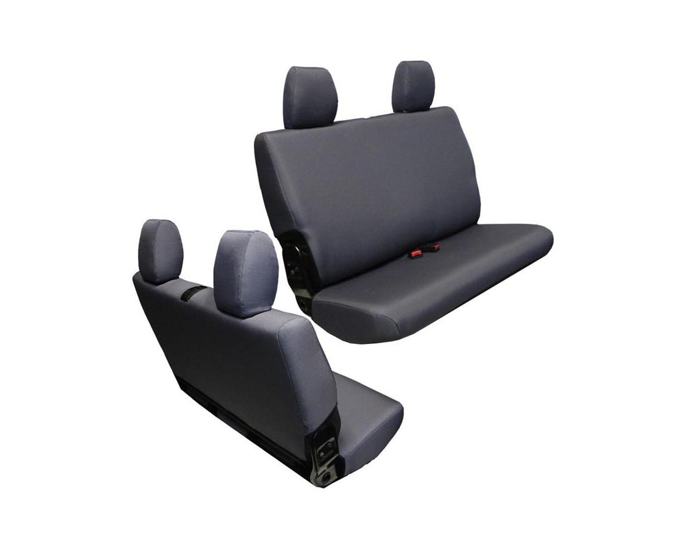Bartact Graphite Baseline Performance Rear Bench Seat Covers Jeep Wrangler JK 2 DR 2007-2010 - JKBC0710R2G