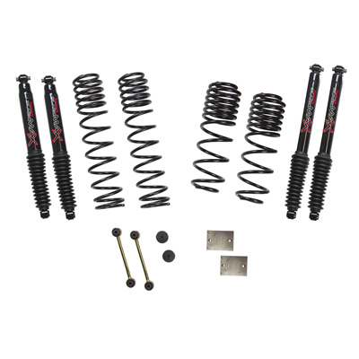 Skyjacker Jeep JL Diesel 1.5 Inch Dual Rate Long Travel Suspension Lift W/Black MAX Shocks 2020 Wrangler JL Rubicon - JL15RBPBLTD