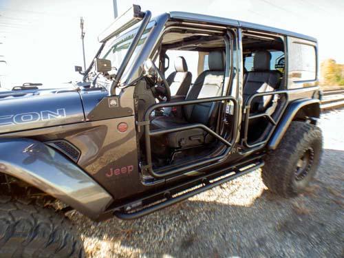 Jeep JL Tube Doors Front 18-Pres Wrangler JL Black Motor City Aftermarket - JLFTD18