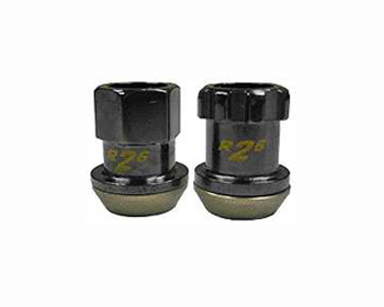 KICS R26 M12x1.25 Racing Lug Nuts Black - 32875