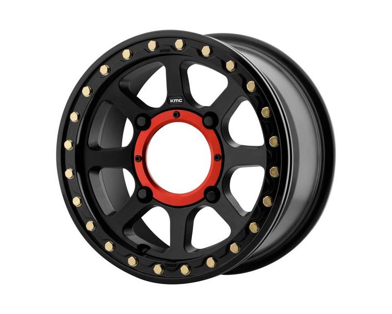 KMC ATV Addict 2 Beadlock Wheel 14x7 4X110 38mm Satin Black - KS23447040738