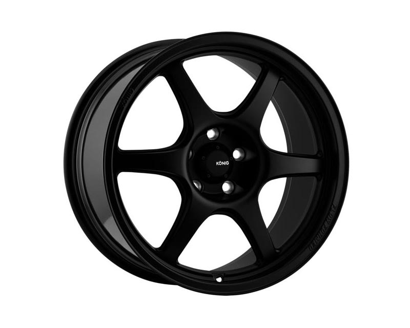Konig Hexaform Wheel 15x8 4x1000 25 BKMTXX Matte Black - HF85100255