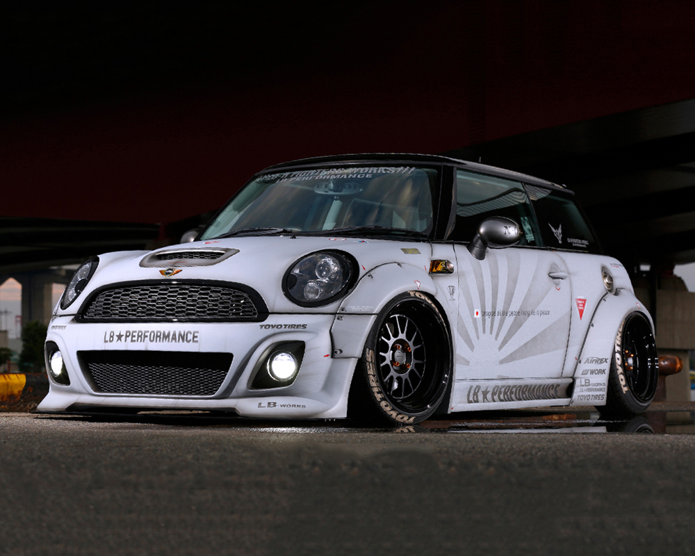liberty walk complete body kit cfrp mini cooper r56 07 13. Black Bedroom Furniture Sets. Home Design Ideas
