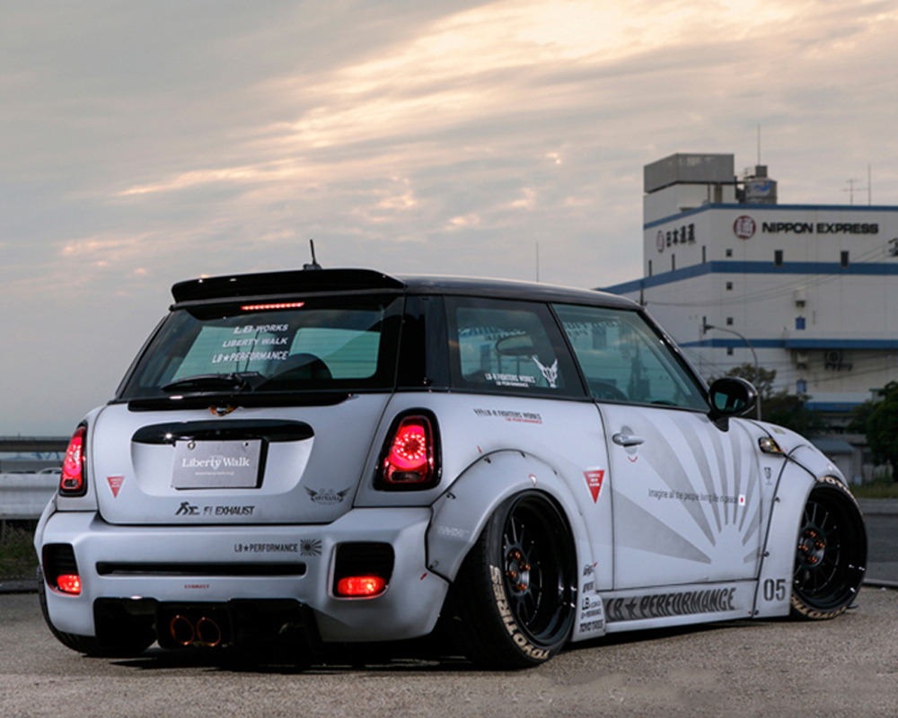 liberty walk rear diffuser frp mini cooper s r56 07 13. Black Bedroom Furniture Sets. Home Design Ideas