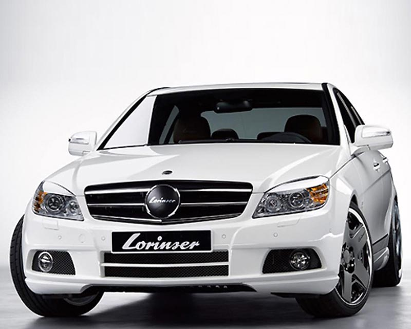 Lorinser Exclusive Front Bumper Cover Mercedes-Benz C-Class w/o Parktronic 08-11 - 488 0204 12