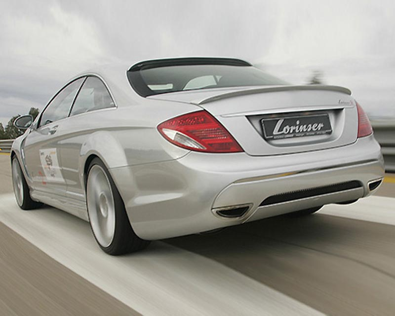 Lorinser Exclusive Rear Bumper Cover Mercedes-Benz CL-Class w/Parktronic 07-12 - 488 0216 51