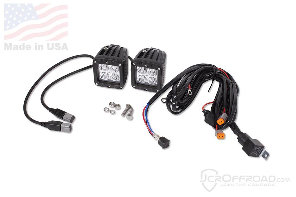 JCR Offroad 3x3 LED Cube Lights - Set of 2 - LED3X3