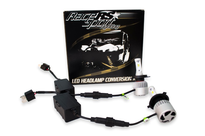 Race Sport Lighting H13-3 Drive Series High/Low 2,100 LUX Driverless Plug-&-Play LED Headlight Kit with Canbus Decoder - H13LEDDS