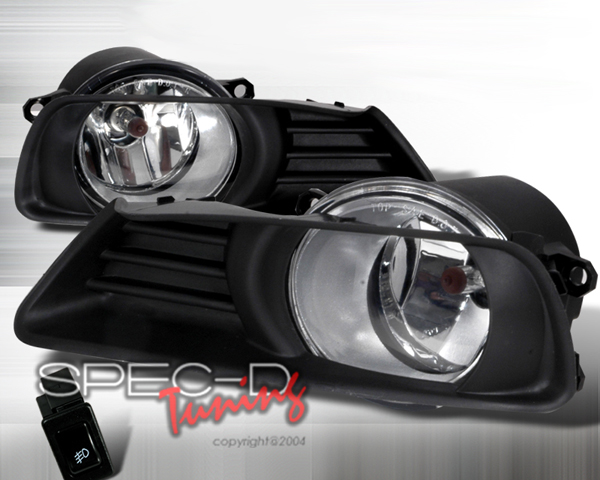 SpecD OEM Style Clear Fog Lights Toyota Camry 07-09 - LF-CAM07OEM